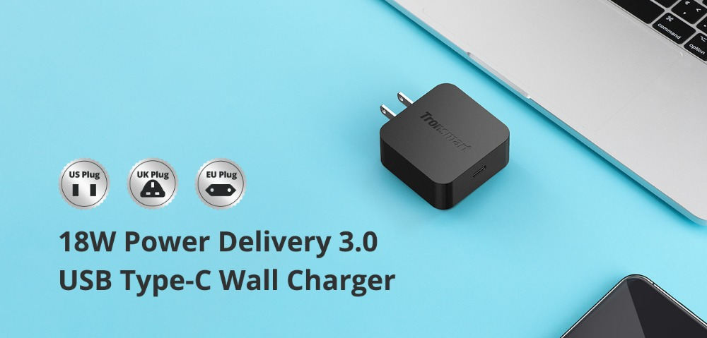 Tronsmart WCP01 PD Charger 18W Quick Charge 3.0 Power Delivery 3.0 USB Type-C Phone Charger for iphone,huawei,xiaomi (2)