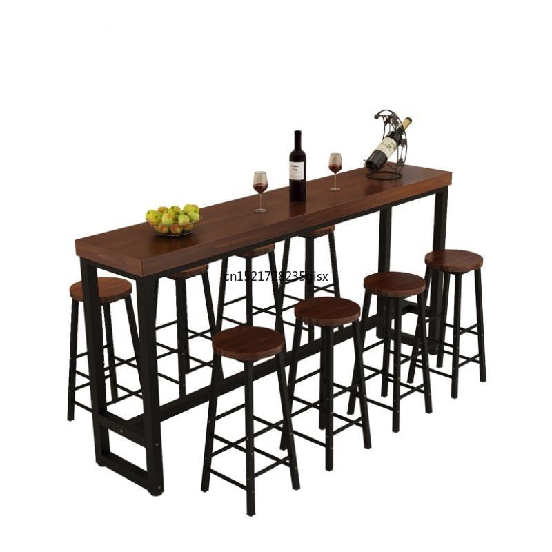 Wrought Iron Solid Wood Home Bar Chair High Tea Shop Coffee Bar And Chair