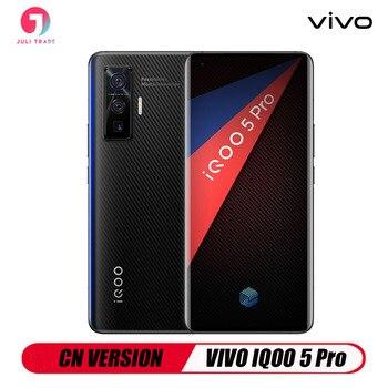 Перейти на Алиэкспресс и купить VIVO IQOO 5 PRO 5G Snapdragon 86 5G 120 Гц Быстрая зарядка 120 Вт сканер отпечатков пальцев Android 10 CN версия 50MP Тройная камера Google Play