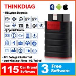قارئ أكواد موديل ThinkCar ThinkDiag obd2 obdii أداة تشخيصية لجميع الأنظمة عدد 15 جهاز مسح التفكير Diag pk X431 easydiag 3.0 ap200 golo