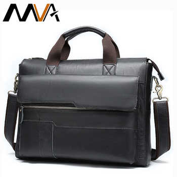 MVA men's briefcase Genuine Leather laptop bag men's leather bag office bags for men laptop briefcase lawyer men bags 8615 - DISCOUNT ITEM  41% OFF All Category