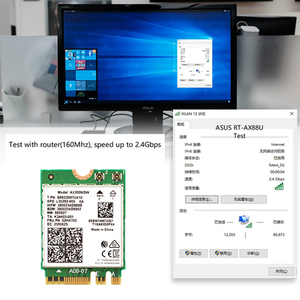 Image 4 - ثنائي النطاق 2.4Gbps واي فاي 6 AX200NGW 802.11ax/التيار المتناوب MU MIMO 2x2 واي فاي ل AX200 NGFF M.2 بلوتوث 5.0 شبكة Wlan بطاقة + هوائي