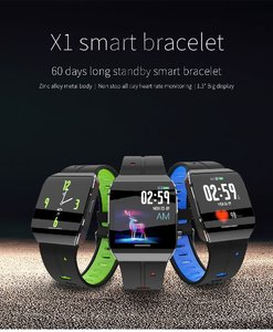 Image 3 - X1 relojes inteligentes IP68 impermeables para nadar hombres mujeres Smartwatch deportivo 30 días Larga modo de reposo tiempo 1,3 pulgadas pulsera de pantalla grande