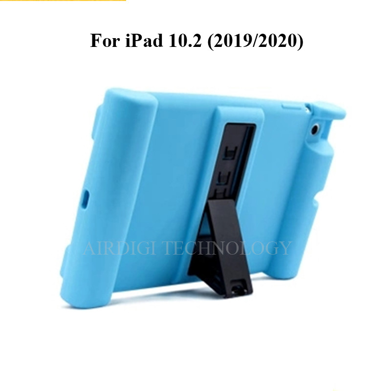 blue Blue Soft Shockproof Silicone Cover Kickstand Case for iPad 10 2 A2198 A2200 A2197 A2270 A2428 A2429