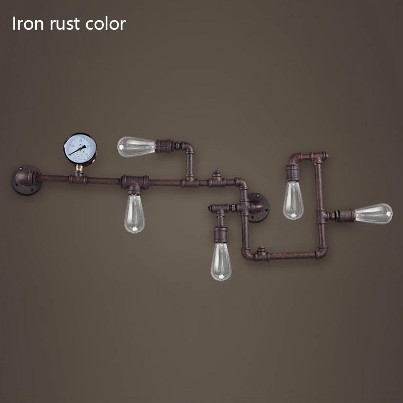 água ferrugem de ferro, luminária retrô e27