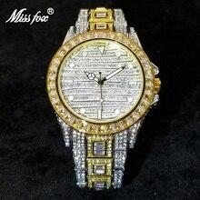 MISSFOX Hip Hop Men Watches Luxury Full Diamond Quartz Watch Fashion Iced Out Luminous Waterproof Clock Best Selling Products