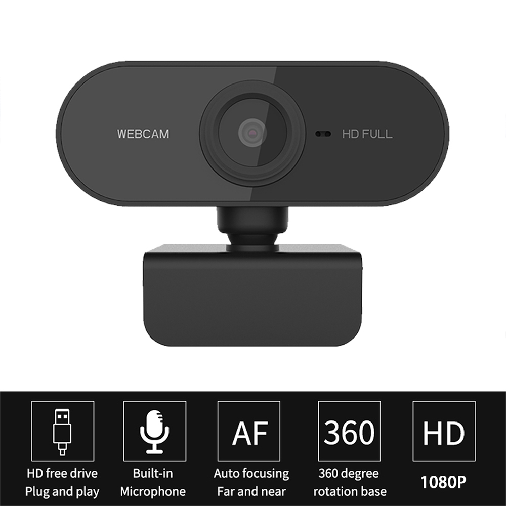 Full HD 1080P Webcam Mini Computer Webcamera With Microphone Rotatable Cameras For Live Broadcast Video Calling Conference Work