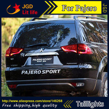 Car Styling tail lights for Mitsubishi Pajero taillights 2011-2013 LED Tail Lamp rear trunk Mitsubishi Pajero taillight