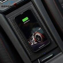 Для Volkswagen Golf 7 Mk7 2013 QI специальный бортовой беспроводной телефон зарядное устройство автомобильные аксессуары