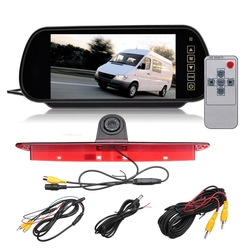 Car Backup View Camera Brake Light IR Rear View Reversing Camera 7 Inch Rearview Display Monitor Kit for Mercedes Sprinter