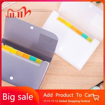 1pc plastikowy A6 Folder Organizer do dokumentów pokwitowanie plik rozszerzający portfel 13 kieszenie Bill foldery uchwyt na papier artykuły biurowe tanie i dobre opinie Rozszerzenie portfel Torba as show in the pic Z tworzywa sztucznego YWX463 Expanding Wallet A6 File Folder Document Bag