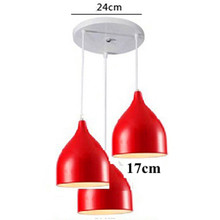 Nordic LED Pendant Light Restaurant Lampshade Pendant Lamp Living Dinning Room Bar Coffee Shop Hanging Lamp Lighting Colorful(China)