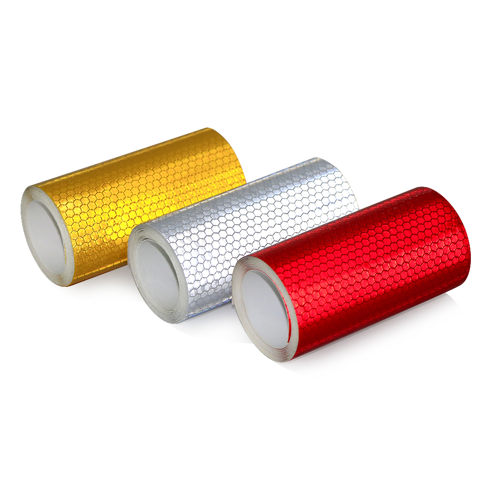 Image 2 - 10cmx3m Safety Mark Reflective tape stickers car styling Self Adhesive Warning Tape Automobiles Motorcycle Reflective Film Decal-in Car Stickers from Automobiles & Motorcycles