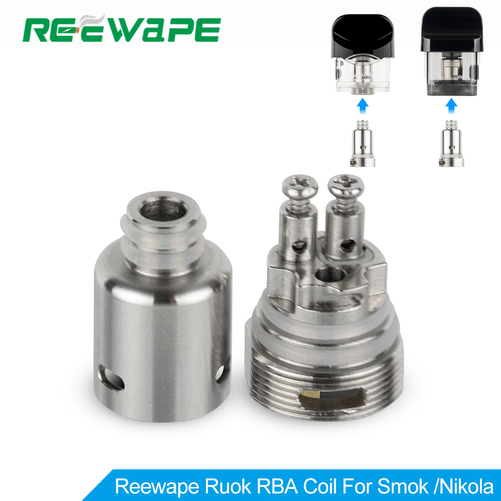 Newest Reewape Ruok RBA Coil Head For Tank Nord/Volta AIO/Blitz Realm For RPM/Lusty/Dovpo Peaks/Oukitel Mate For Fetch Mini