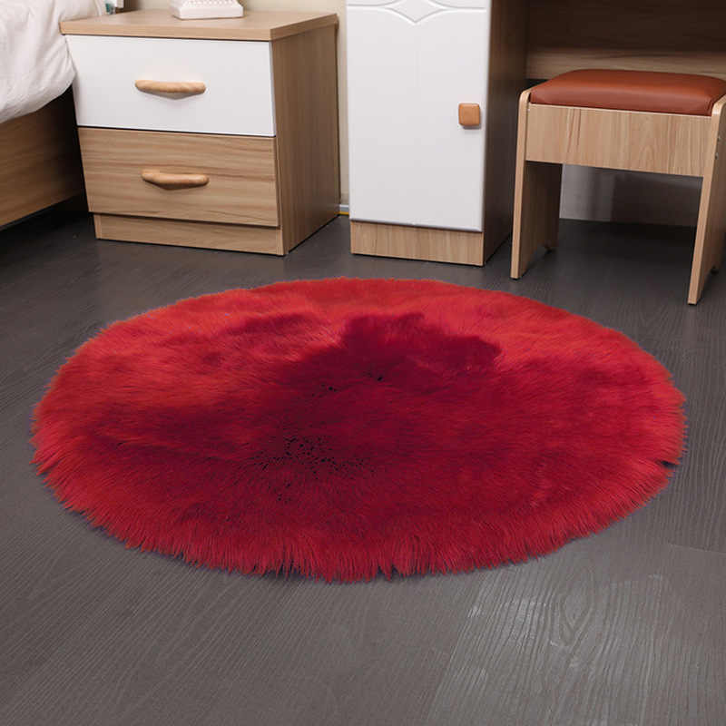 부드러운 인공 양모 깔개 의자 커버 30*30CM 침실 매트 인공 모직 따뜻한 털이 카펫 좌석 Textil 모피 지역 양탄자