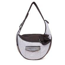 One-Shoulder Striped Belt Pocket Pet Bags Adjustable Safety Buckle Zipper Side Pocket Multi-Function Crossbody Bag plus multi striped pocket side dress