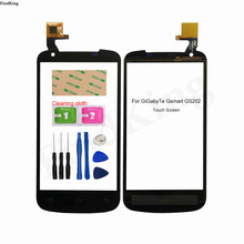 Phone Touch Screen Front Glass For GiGabyTe Gsmart GS202 TouchScreen Touch Screen Sensor Digitizer Panel Tools Adhesive