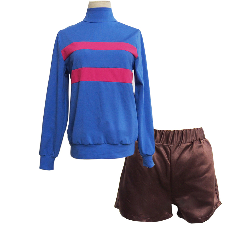 NEW Undertale Frisk Chara T-shirt Pants Cosplay Costume Custom Made