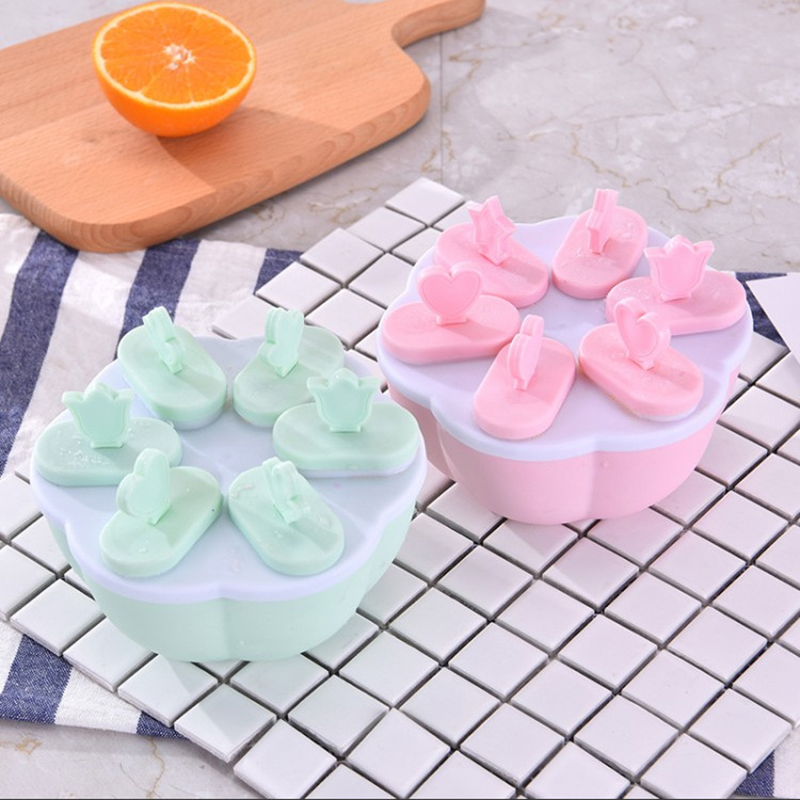 New ice box popsicle iwith lid ice cream mold summer DIY Cute Yogurt Fridge Frozen Ice Cream Tools plastic ice grid ice mold