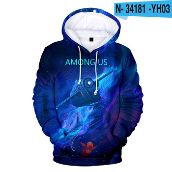 New Autumn Winter Tops Funny Print Among Us Hoodie Cartoon 3D Printed Pullover Sweatshirt Adult Harajuku Anime Pullover 15