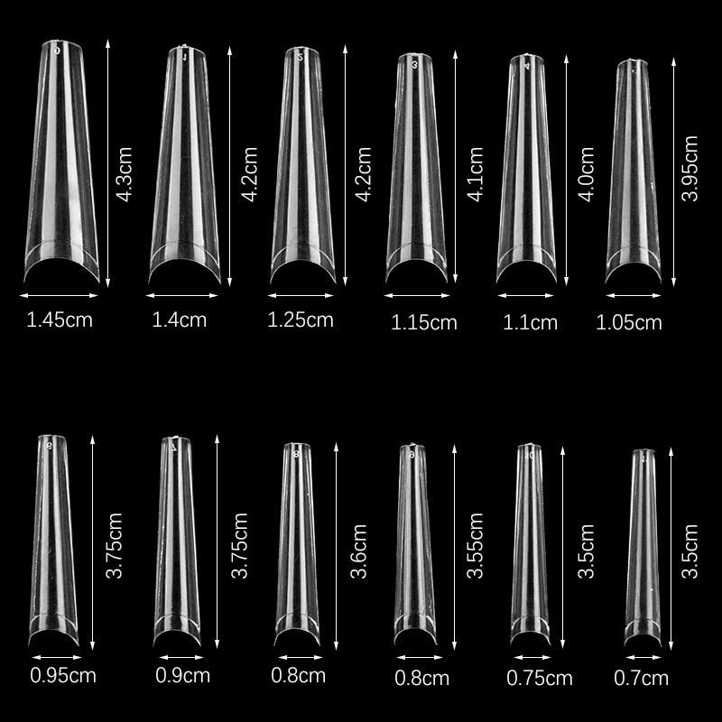XXL-long 600 шт чистые ногти Советы пресс на ногтях 240 шт гель X советы XXL Экстра длинный гроб поддельные ногти гроб ногти балерины,(600)