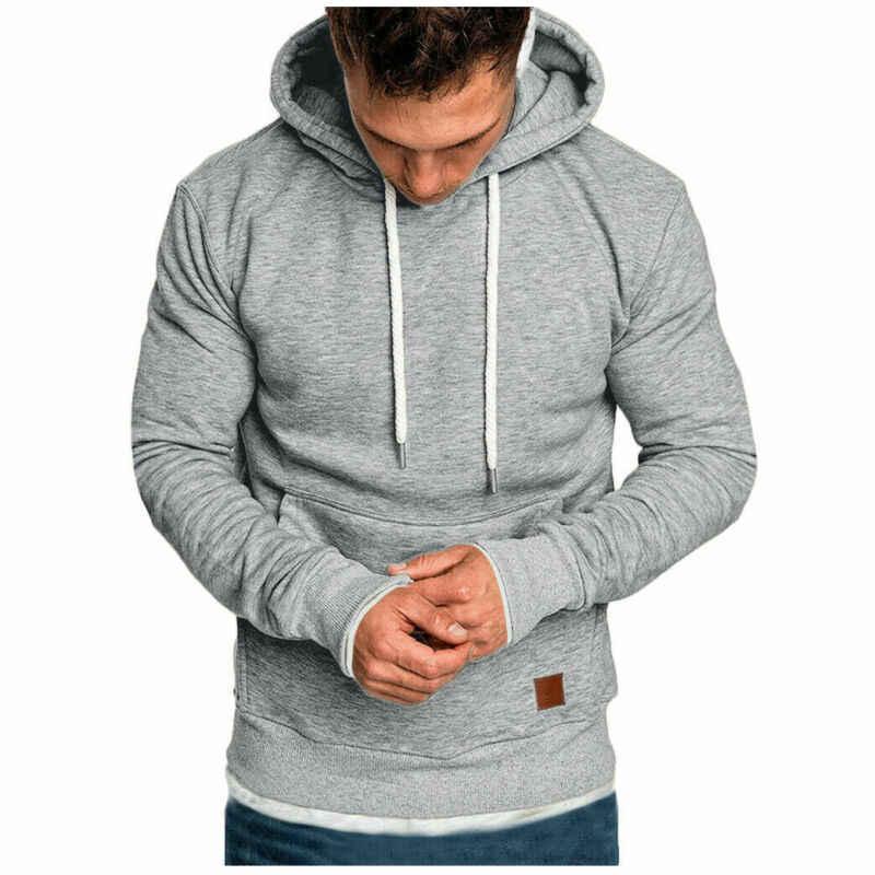 Meihuida Herbst Mode Heißer Männer Casual Hoodie Warme Mit Tasche Pullover Weiche Baumwolle Mit Kapuze Solide Sport Running Wear