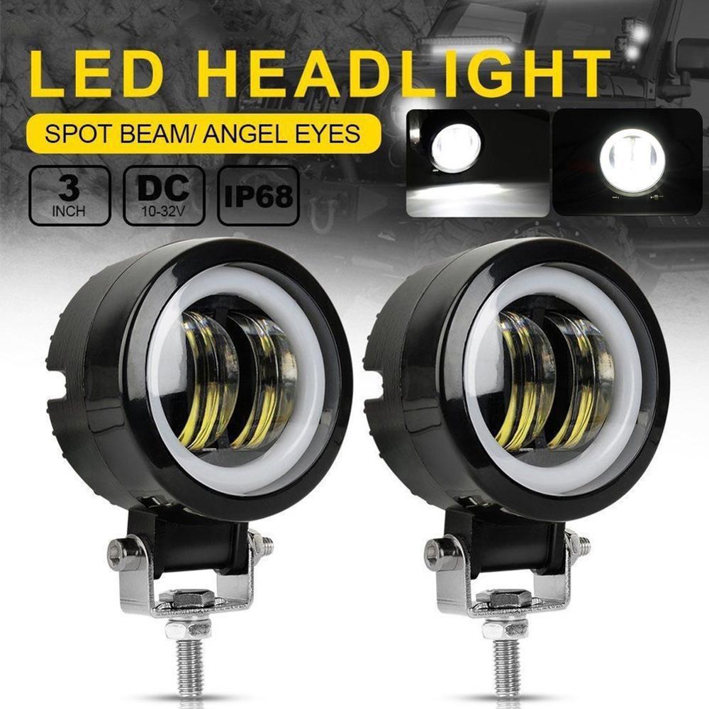 2PCS / 1PCS 20W 12V 24V 6500K Waterproof Round LED Night Bar Lights Spot Light Motorcycle Offroad Car Boat Truck Led Work Light