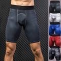 Мужские Спортивные Компрессионные шорты для тренажерного зала, штаны с нижним слоем, спортивные трико, мужские повседневные эластичные быс...
