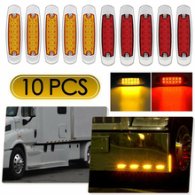 Lorry Side Marker Clearance Light DC 12-24V W/ Mounting Screw Low power 12 LED