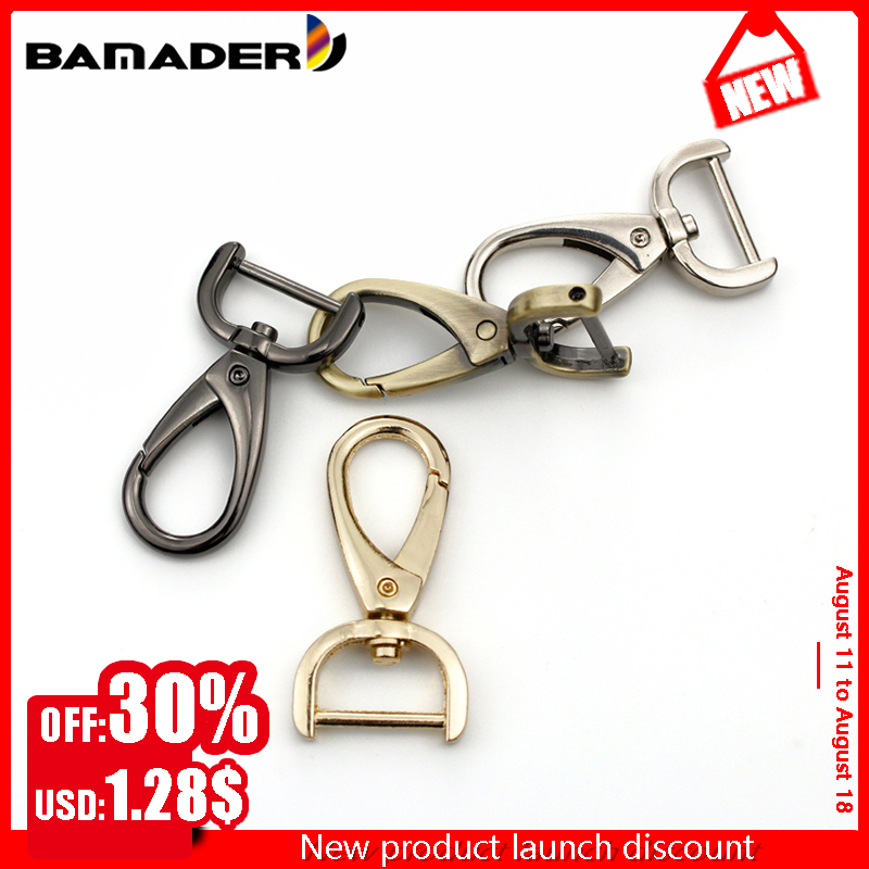 Metal Buckle Detachable Snap Hooks Trigger Clips Buckles For Leather Bag Strap Keychain Detachable Screw Joint Connector Buckle
