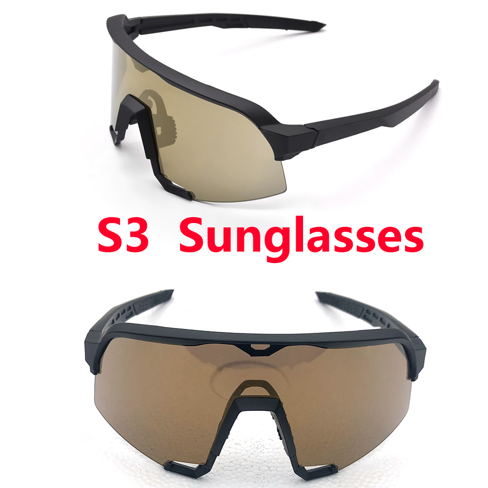 S3 Sports Polarized Bike Glasses MTB Road Bike Goggles Men And Women Bike Glasses UV400 Bike Sunglasses 3 Lenses Bicycle