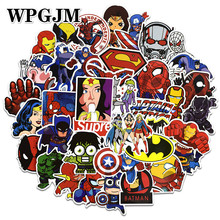 50Pcs/Pack Cool Super Hero marvel Stickers Kids Toy The Avengers Sticker Bomb for Skateboard Luggage Laptop Notebook Car TV