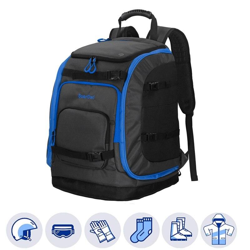 SolarOwl 50L Лыжная сумка, Большой Вместительный рюкзак, ботинки для хранения, одежда для шлема, рюкзак для лыж с регулируемой водонепроницаемостью Лыжные сумки    АлиЭкспресс