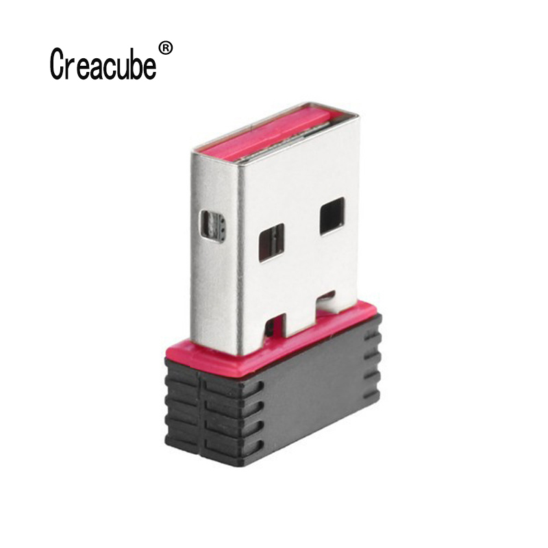 Creacube 150M USB Wifi Adapter Receiver Network-Card 150mbps Mini-Usb Wireless Wi-Fi Dongle For PC Win 10