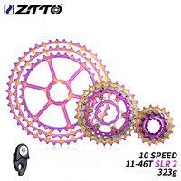 ZTTO 10 Speed 11 46T SLR2 Rainbow Flywheel NEW Bicycle Ultra Light Flywheel HG System 10S46T CNC 10v k7 for MTB X0 X9X7 M610M781