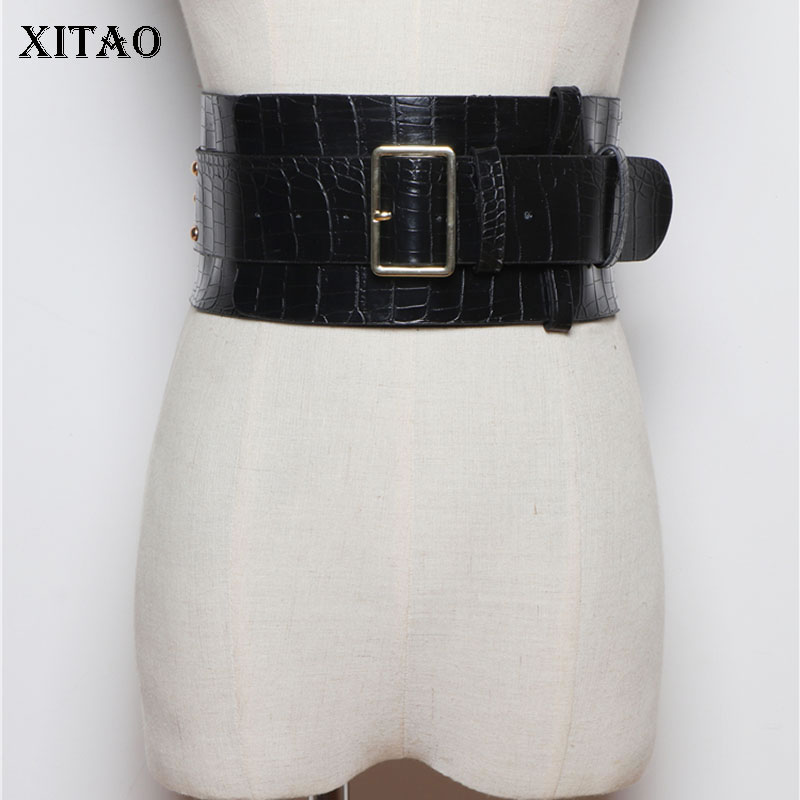 XITAO 2019 Fashion Wild Cummerbund Women Streetwear Girdle Leisure PU Leather Elegant Accessories Belt Tide Brand XJ2392