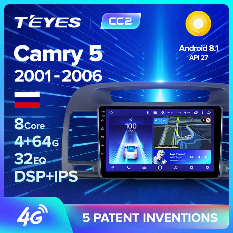 Teyes CC2 Voor Toyota Camry 5 Xv 30 2001 - 2006 Auto Radio Multimedia Video Player Navigatie Gps Android 8.1 geen 2din 2 Din Dvd