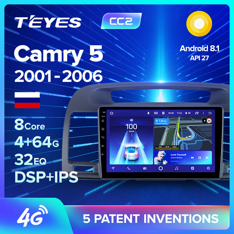 TEYES CC2 For Toyota Camry 5 XV 30 2001 - 2006 Car Radio Multimedia Video Player Navigation GPS Android 8.1 No 2din 2 din dvd