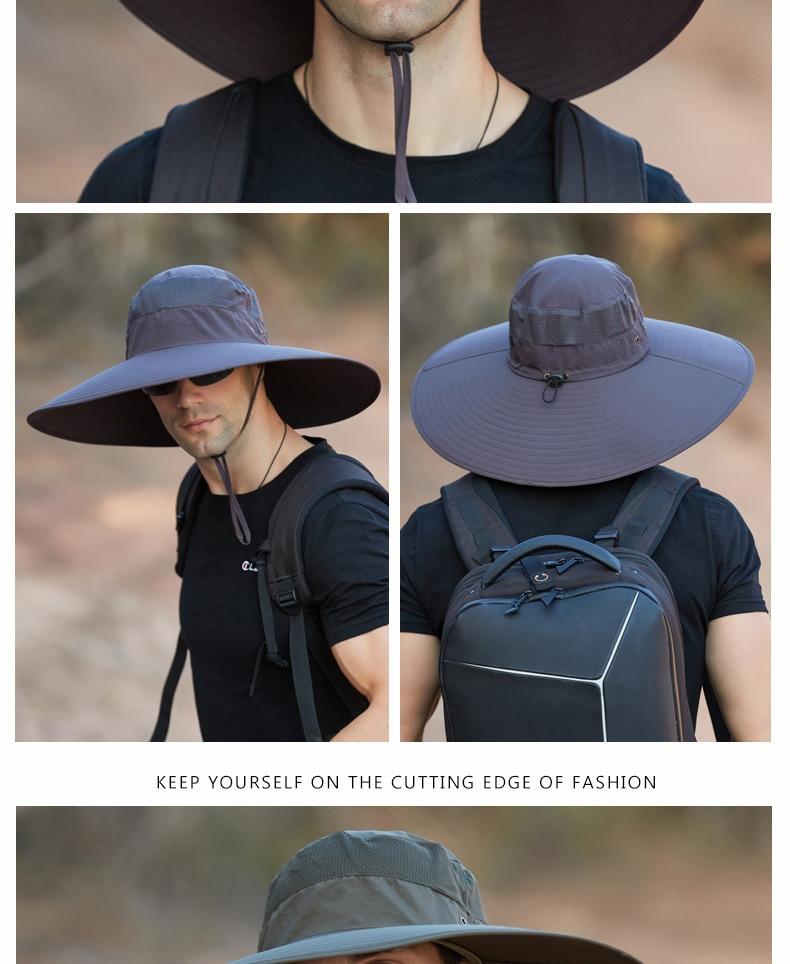 Aba do chapéu de sol ao ar