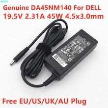 Натуральная DA45NM140 19,5 V 2.31A 45 Вт LA45NM140 адаптер переменного тока питания для ноутбука Dell Inspiron 15 7000 14 3000 XPS 11 13 ноутбук Питание Зарядное устройство