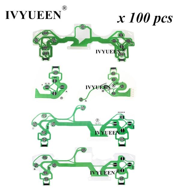 IVYUEEN 100 قطعة موصلة لوحدة تحكم PlayStation 4 PS4 PRO ، مع فيلم موصل ، وكابل مرن JDS 050 040 030 011