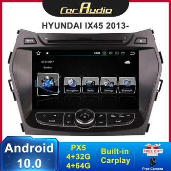 "8"" HD IPS Car DVD Radio 2 Din Android 10.0 Car Multimedia player for Hyundai GPS IX45 2013 2014 2015 Car Stereo Autoradio 8core image"