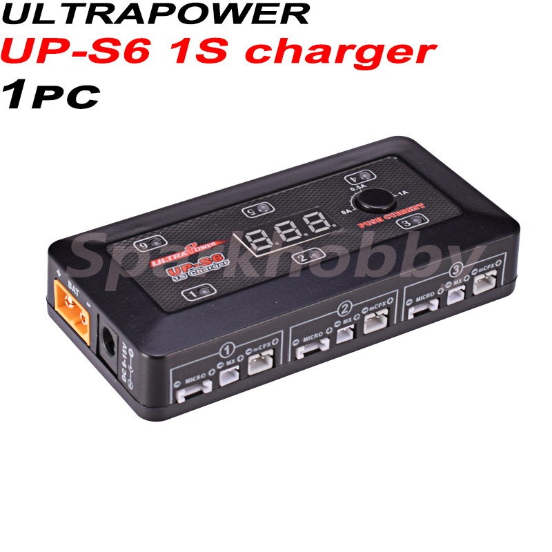 1PC UltraPower UP-S6 <font><b>1S</b></font> charger <font><b>Lipo</b></font>/LiHV <font><b>Battery</b></font> charger support Micro MX mCPX <font><b>battery</b></font> port 6 Channels Charging Units for RC image