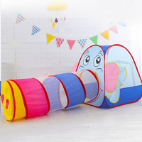 Children Cartoon Elephant Ocean Ball Wave Pool Baby Play House Sunlight Tunnel Toys Foldable Tent For Kids Baby Birthday Gifts