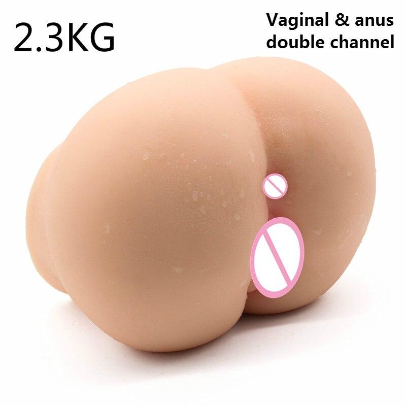 3D gros cul cul silicone doux poupée de sexe réaliste vagin et Anus pour les masturbateurs masculins jouets produits pour adultes poupée de torse de sexe artificiel