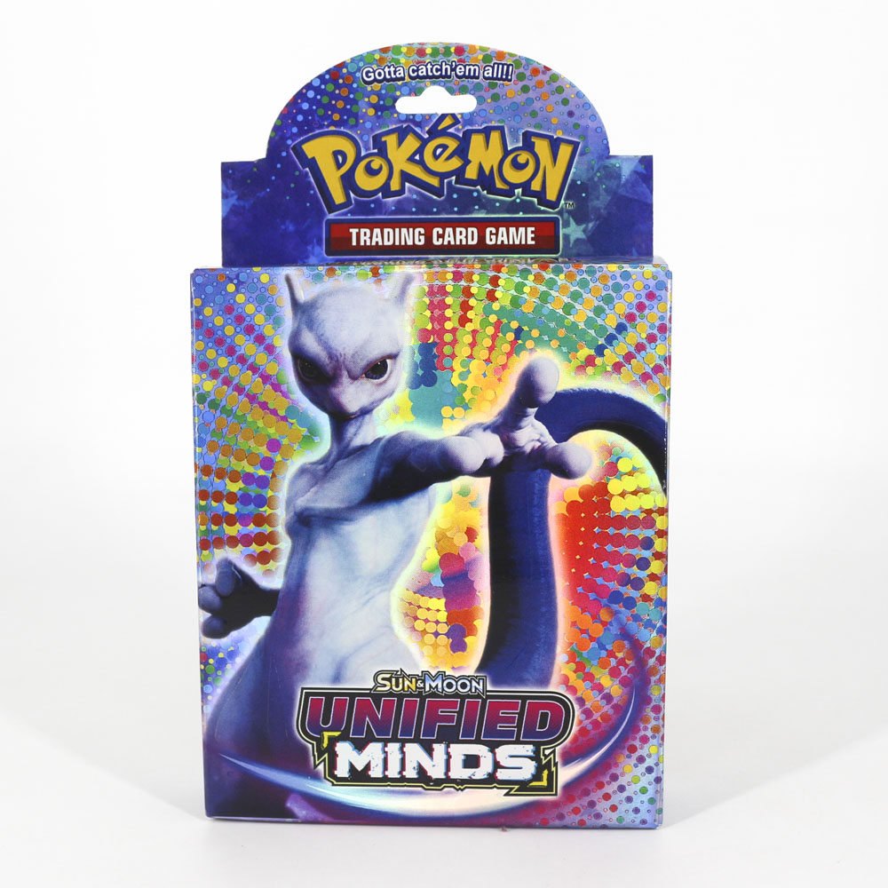 Takara Tomy Pokemon Card TCG SUN MOON UNIFIED MINDS Cards Collections Shining Cards 48pcs  Flash Box Card For Kids Gifts