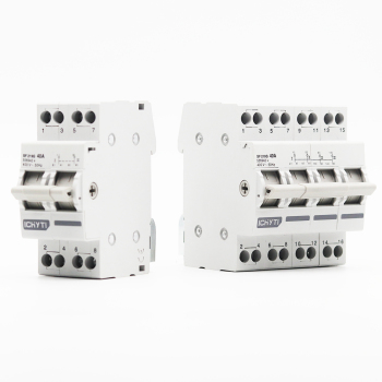 Interruptor Manual de transferencia de 2P 40A MTS Doble potencia, interruptor de circuito de interbloqueo 2
