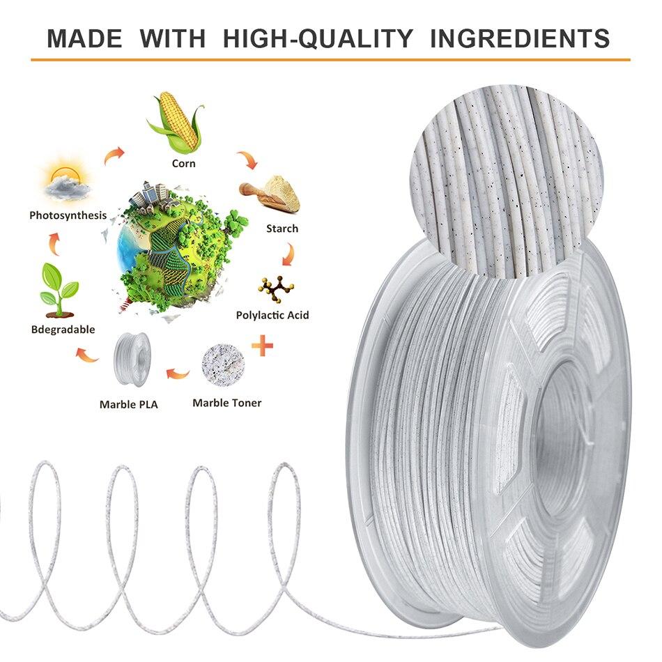 cheapest SUNLU PLA Marble Filament 1 75mm 1kg Plastic PLA 3d Filament For 3D Printer New Arrival 3D Printing Material