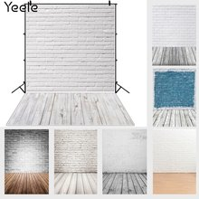 Yeele черно белая кирпичная стена деревянный пол настенные текстурные