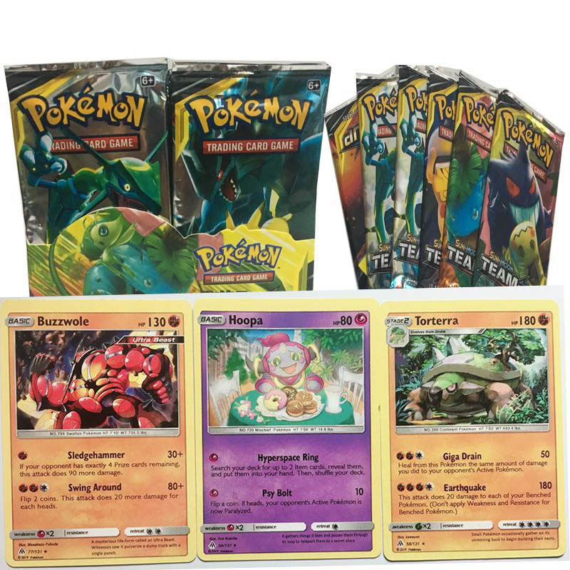 Game Collection Cards   Pokemon Cards  English Card   Children's Card Game Battle Training  Toy For Children Gift